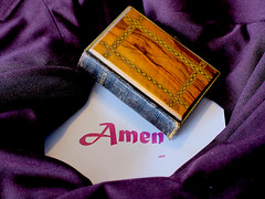 word028-psa365 (Chuckcars) Tags: psa 365 project submission bible old word maroon purple amen