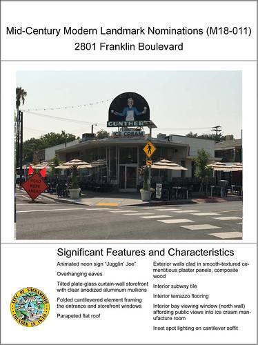 Landmarked: Gunther's Ice Cream. 2801 Franklin Boulevard, Sacramento