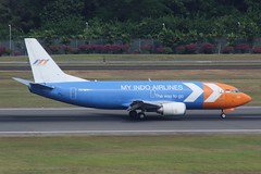 My Indo Airlines (So Cal Metro) Tags: airline airliner airplane aircraft plane jet aviation airport singapore sin changi pkmyi myindo myindoairlines boeing 737 cargo freight freighter courier package delivery