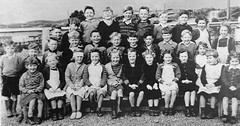 Class photo (theirhistory) Tags: boy child kid girl school class form pupils jacket trousers wellies skirt dress shorts shoes wellingtons