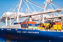 We Got the Sky to Talk About (Thomas Hawk) Tags: america bayarea california eastbay northerncalifornia oakland port portofoakland sfbayarea usa unitedstates unitedstatesofamerica westcoast boat freight norcal shipping fav10
