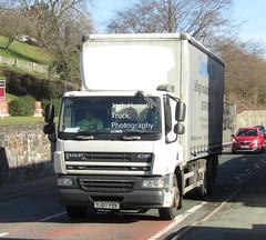 Cannock CID YJ07 PZK at Llanfair Caereinion (Joshhowells27) Tags: lorry truck daf cf dafcf cannockcid cannock curtainsider yj07pzk