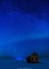 Stars-of-Lofoten-1 (A. Gosewehr) Tags: blue stars oldhouse abandoned milkyway night aurora lofoten norway nightsky sky sterne ruine haus blau nacht norwegen