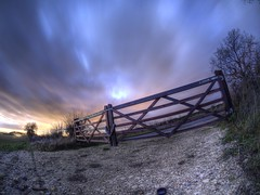Does anyone have the Keys To Escape from the Sky (RS400) Tags: cool wow amazing travel landscape gate fence hdr clouds sly sky sunset sun set golden hour cold outside photography olympus shutter speed long colour colours orange southwest uk freezing