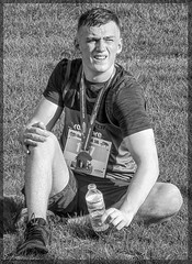The Will Of This Heart 28 (lightandform) Tags: men masculinity rough rugged strong brave hard determined black white monochrome powerfull runners bw alpha race compete man energy challenge portrait tension face close hero