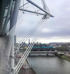 Crossing the Taff (robmcrorie) Tags: card river taff arms park principality stadium bridge arriva trains wales class 175 iphone 7 plus