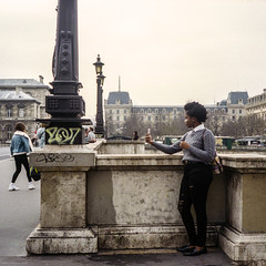 selfie (LaurentBourdier) Tags: minolta alf portra filmphotography street paris rue selfie color