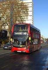 AB 2601 - YY67GZX - CAMBERWELL ROAD - THUR 17TH JAN 2019 (Bexleybus) Tags: camberwell road se5 london abellio adl dennis enviro 400 mmc tfl route 45 2601 yy67gzx