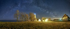 Title (ericstadler83) Tags: f2 24mm field wide astrophotography rokinon format medium a7riii sony composite panorama exposure long night dark clear happy spring april barques aux pointe michigan way milky milkyway lighthouse astro