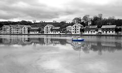 MAR_1919_00005 B&W&Col (Roy Curtis, Cornwall) Tags: uk cornwall truro truroriver reflection greyday river water weather urban