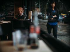 Buenos Aires recuerda mi ventana despierta. (Adolfo Rozenfeld) Tags: bokeh window lensturboiifd café streetphotography dof ventana cosinonauto55mmf14 buenosaires manuallens vintagelens oldman viejo lluvia rain calle bar pensive mood atmosphere