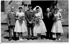 IMG_0009 Geoff Spafford RIP old B&W Family photos Roy and Veda Spafford Wedding with Geoff Spafford and Gilbert Togood Scawby Parish Church of Saint Hybald's 20th June 1959 (photographer695) Tags: geoff spafford rip old bw family photos roy veda wedding with gilbert togood scawby parish church saint hybalds 20th june 1959