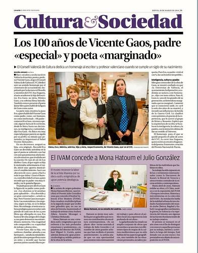 """Los 100 años de Vicente Gaos, padre """"especial"""" y poeta """"marginado"""""""