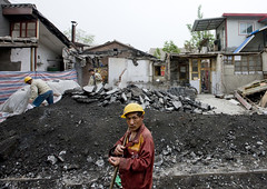Manual Worker On A Demolition Site, Beijing, China (Eric Lafforgue) Tags: mg0729 abandoned adult adultonly architecture asia beijing brick buildingexterior china city colorpicture constructionsite damaged day demolishing demolitionsite destruction development dirtroad helmet homme horizontal human hutong largegroupofpeople lookingatcamera man manualworker menonly obsolete occupation oldtown outdoors pekin renovation repairing road rubble serious street teamwork threepeople worker working
