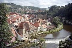 2001-08-07 Český Krumlov (beranekp) Tags: czech český krumlov river vltava old alt history