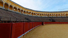 Plaza de Toros - off season (HansPermana) Tags: seville sevilla españa spain spanien eu europe europa iberianpeninsula winter december 2018 cityscape citycenter oldtown plazadetoros bullfight matador alandalus andalusia