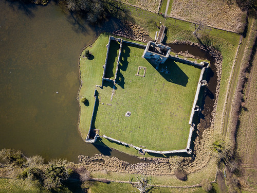 Aerial View - Baconsthorpe Castle