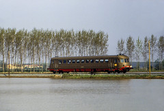 FS ALn 990.3038 Remondo' 10/04/1988 (stefano.trionfini) Tags: train treni bahn zug diesel fs aln990 lomellina lombardia italia italy
