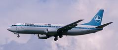 B737 | LX-LGF | BRU | 20010415 (Wally.H) Tags: boeing 737 boeing737 b737 lxlgf luxair bru ebbr brussels zaventem airport