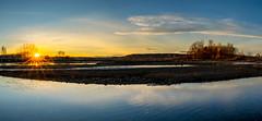 Se pone el sol en el río Órbigo (dnieper) Tags: puestadesol sunset ríoórbigo león spain españa