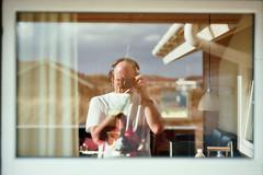 The truth comes in layers (auqanaj) Tags: 20180805bis20180810 kodakgold200 nikonfm2n cewescanat72dpi analog film denmark dänemark westjütland jütland midtjylland urlaub holiday cabin mirror reflection spiegelung reflexion beyerdynamicdt770pro photographer fotograf