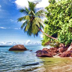 Pastel beach / Пастельный пляж (dmilokt) Tags: природа nature пейзаж landscape море sea пляж beach песок sand пальма palm небо sky облако cloud dmilokt nikon d850
