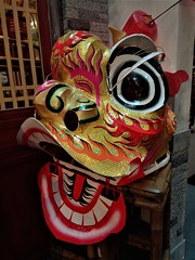 lion head (SM Tham) Tags: asia southeastasia malaysia kualalumpur midvalley shoppingmall chinesenewyear decorations display liondance lion head costume artsandcrafts handmade