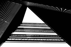 - _ -  look up  - _ - (christikren) Tags: austria architecture abstract blackwhite bw building christikren contrast lines noiretblanc österreich panasonic sw modern graz black