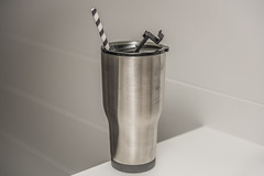 RTIC insulated mug with straw