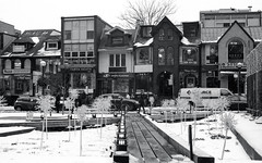Snow Covered Yorkville Park_ (Bill Smith1) Tags: believeinfilm billsmithsphotography canonnewf1 fdn50f14lens hc110b heyfsc kodaktrix4001600 toronto