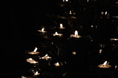 candles (unciclamino) Tags: florence monument pontevecchio lights candles church mosaic
