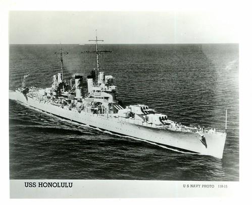 USS Honolulu (CL-48), WWII, Light Cruiser