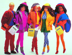 1991 Barbie Benetton Shopping Ken Christie Kira Marina Teresa (Barbie Collectors Guide '90s) Tags: 1991 barbie benetton shopping ken christie kira marina teresa