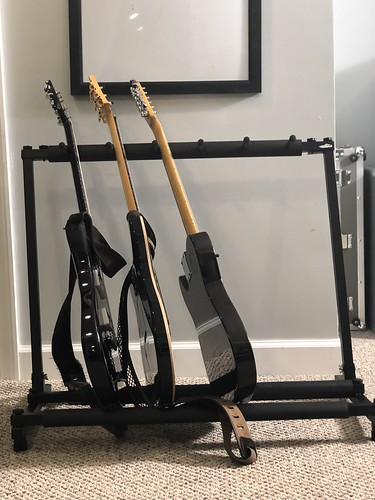 Electric Guitars in a Stand
