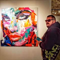 La mirada   -   The look (Miquel Lleixà Mora) Tags: art people gent gente barcelona expo exposicio mirada look