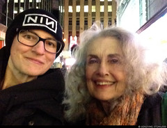 "20170105_i08 Me & Mary Beth Peil (... I think) by the stage door of the Booth Theatre, where she was doing ""Les liaisons dangereuses"" 