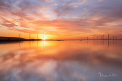 Sunrise Power (Ellen van den Doel) Tags: 2018 zonsopkomst natuur landscape nature reflection overflakkee nederland outdoor weather clouds goeree sun zon zonsopgang landschap weer reflectie sky battenoord sunrise netherlands wolken januari zuidholland nl