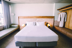 Bed (Leighton Wallis) Tags: sony alpha a7r mirrorless ilce7r 1635mm f40 emount 55mm f18 thecalile brisbane qld queensland australia hotel