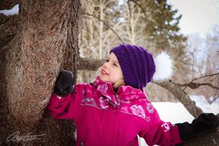 Winter scene! (corineouellet) Tags: landscape nature woods forest arbre tree blueeyes beauty amazing snow smile girl daughter love portraits portrait winterscene winter