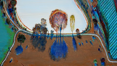 Thiebaud, Ponds and Streams (detail)