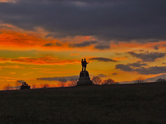 2nd Fire Zouaves at Sunset (George Neat) Tags: 2nd fire zouaves fourth excelsior 73rd new york field sunset colors sun battlefield gettysburg american civilwar adams county pa pennsylvania union confederate north south unitedstates america army potomac northern virginia history landscape scenic scenery historical national park monument memorial statue july 1 2 3 1863 george neat patriot portraits usa csa neatroadtrips outside