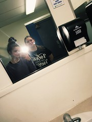 Reflection Photo Prompt #mirrorselfie#reflection#bathroom#school#victoria#prompt#photographyclass#photography#filter (emmaleeperras) Tags: mirrorselfie reflection bathroom school victoria prompt photographyclass photography