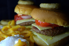 Rustic Cheeseburgers with Curly Fries (Tony Worrall) Tags: images photos photograff things uk england food foodie grub eat eaten taste tasty cook cooked iatethis foodporn foodpictures picturesoffood dish dishes menu plate plated made ingrediants nice flavour foodophile x yummy make tasted meal nutritional freshtaste foodstuff cuisine nourishment nutriments provisions ration refreshment store sustenance fare foodstuffs meals snacks bites chow cookery diet eatable fodder ilobsterit instagram forsale sell buy cost stock rustic cheeseburgers curly fries burger meat chips fried