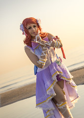 _MG_9067_1 (Mauro Petrolati) Tags: elisa runeterrae cosplay cosplayer maki angel nishikino love live rimini comix 2018 spiaggia beach alba sunrise sea mare