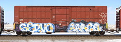 Servo/Sarce (quiet-silence) Tags: graffiti graff freight fr8 train railroad railcar art servo sarce gk boxcar sry sry9206