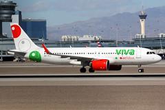 Viva Aerobus | Airbus A320-200N | XA-VIJ | Las Vegas McCarran (Dennis HKG) Tags: vivaaerobus viv vb mexico aircraft airplane airport plane planespotting canon 7d 100400 lasvegas mccarran klas las airbus a320 airbusa320 a320neo airbusa320neo a20n sharklets xavij