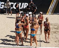 AVP COMPETITORS...... (sandy flea) Tags: girls bikinis avp beach volleyball