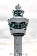 """Amsterdam Schiphol ATC Tower (IMG_2428) (Cameron Burns) Tags: atctower atc tower airtrafficcontrol air traffic control amsterdam schiphol airport amsterdamschipholairport """"amsterdam schiphol"""" ams eham airfield aviation aerospace airliner aeroplane aircraft airplane plane canoneos80d canoneos eos80d canon80d canon eos 80d netherlands holland dutch haarlemmermeer """"luchthaven luchthaven europe action"""