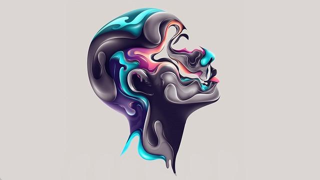 Обои лицо, краска, профиль, абстракция картинки на рабочий стол, фото скачать бесплатно