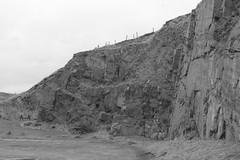 Cliffs,Collieston_Mar 19_534 (Alan Longmuir.) Tags: monochrome grampian aberdeenshire collieston cliffs